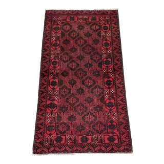 """1940s Vintage Balouchi Persian Rug - 3' 3"""" X 6' For Sale"""