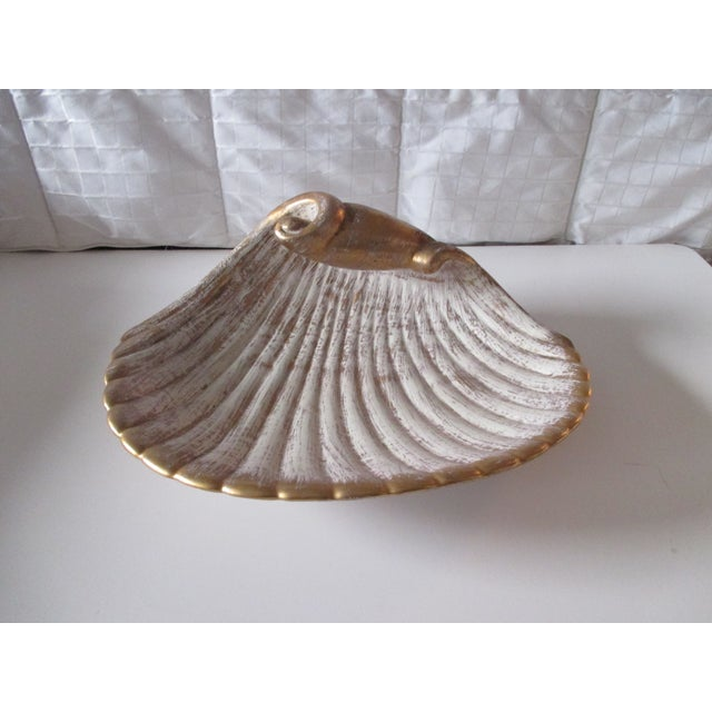 Ceramic Large Mid-Century Modern Shell Decorative Serving Dish For Sale - Image 7 of 7