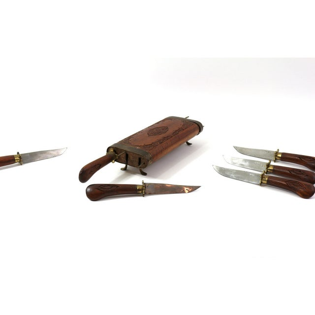 1930s Steak Knife Set From India - Image 4 of 6