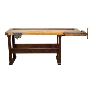 19th C. American Carpenter's Workbench C.1880 For Sale