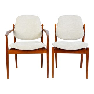 Danish Modern Arne Vodder Arm Chair - Matched Pair For Sale