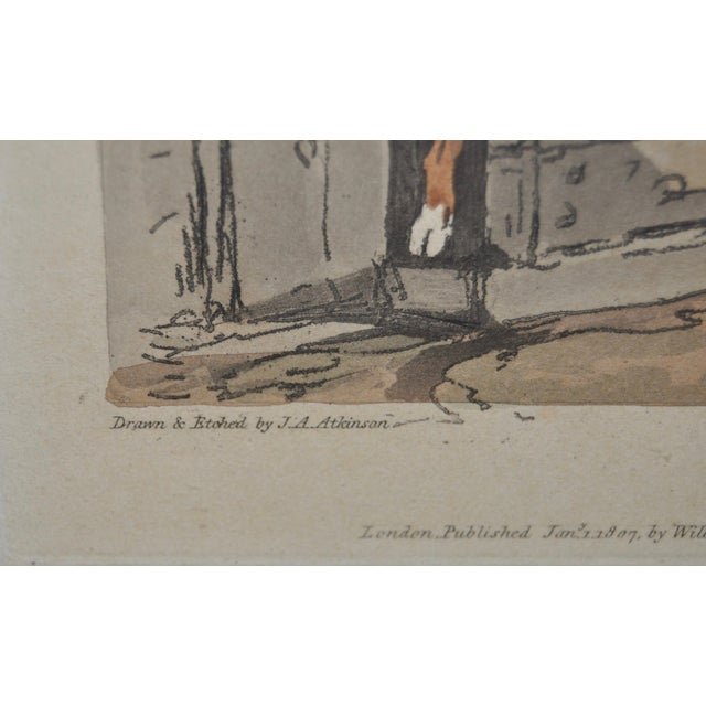 Gray Cottage Girl Hand Colored Engraving C.1807 For Sale - Image 8 of 11
