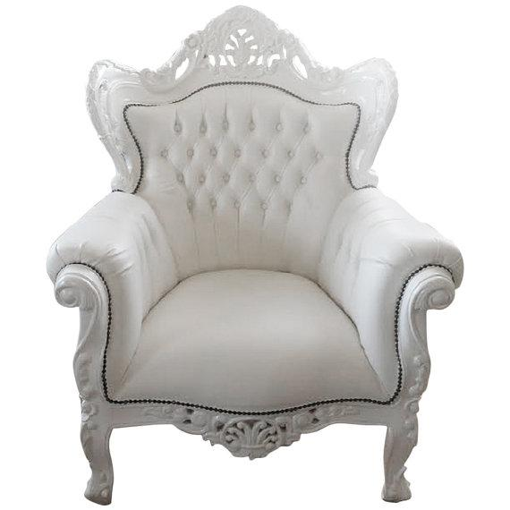 French Bergere Louis XV Style Large Arm Chair - Image 1 of 2