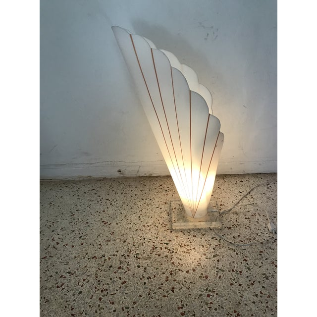 Rougier Lucite Table Lamp Styled After Rougher For Sale - Image 4 of 11