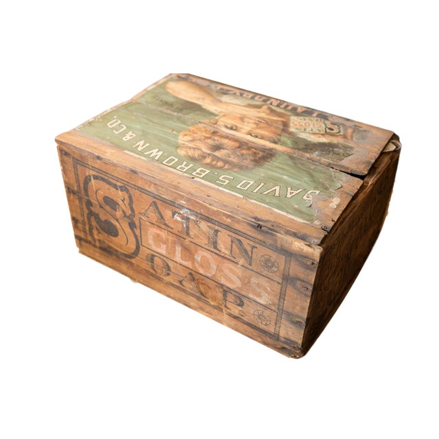 Antique Soap Box Crate With Label For Sale