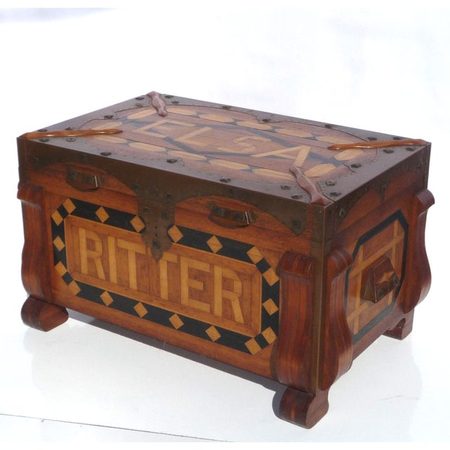 Phenomenal Parquetry & Brass Blanket or Hope Chest - Image 2 of 10