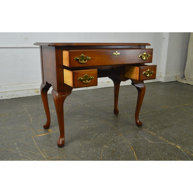 Pennsylvania House Traditional Vintage Solid Cherry Queen Anne Lowboy For Image 4