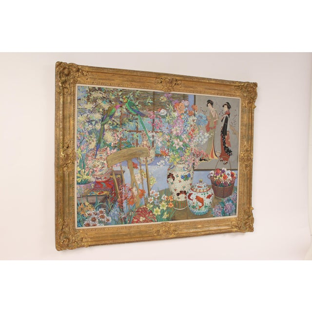 Well framed Chinoiserie still life painting by American artist John Powell (born 1930). A lot of time and skill went into...