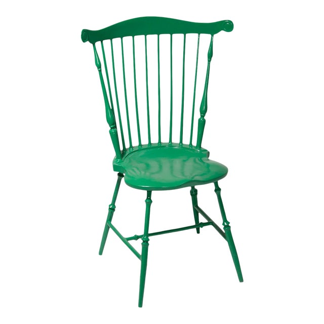 Fanback Outdoor Chair in Large Room Green For Sale