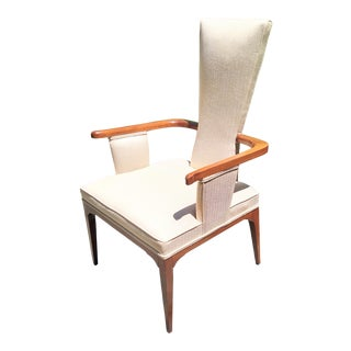 MId-Century Upholstered Arm Chair in the Style of Adrian Pearsall For Sale