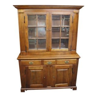 Century Henry Ford Museum Walnut Dutch Cupboard For Sale