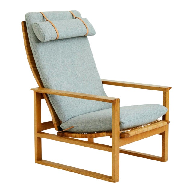 1950s Vintage Børge Mogensen Slædestolen Model BM-2254 Chair For Sale