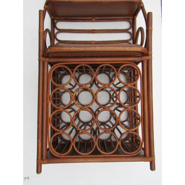 Contemporary Mid-Century Thonet Style Bamboo Wine Bar For Sale - Image 3 of 6