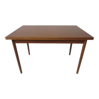 L & F Mobler Danish Modern Teak Extendable Dining Table For Sale