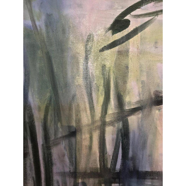 Large Scale Abstract Painting, Custom Wood Frame For Sale - Image 9 of 12