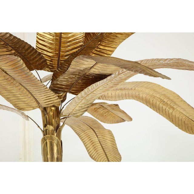 1970s Vintage Brass Banana Tree Sculpture For Sale In New York - Image 6 of 11