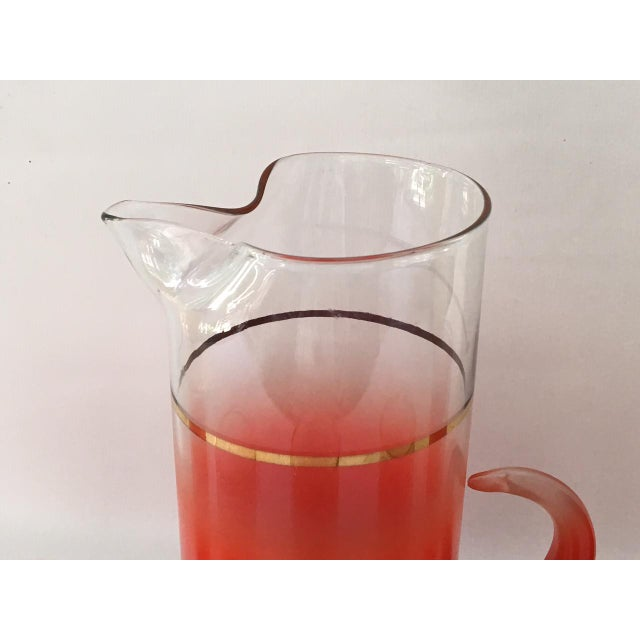Blendo Glass Pitcher Set With 5 Tom Collins Glasses in Rare Red - Image 3 of 7