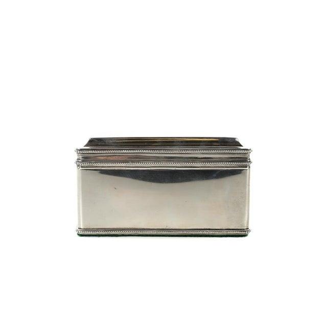 Metal Dutch Silver Biscuit Box Mark of Bonebakker For Sale - Image 7 of 9