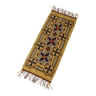 Antique Wool Rug Runner For Sale