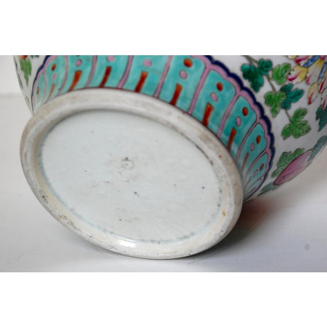 19th Century Chinese Famille Rose Cachepot For Sale - Image 9 of 10