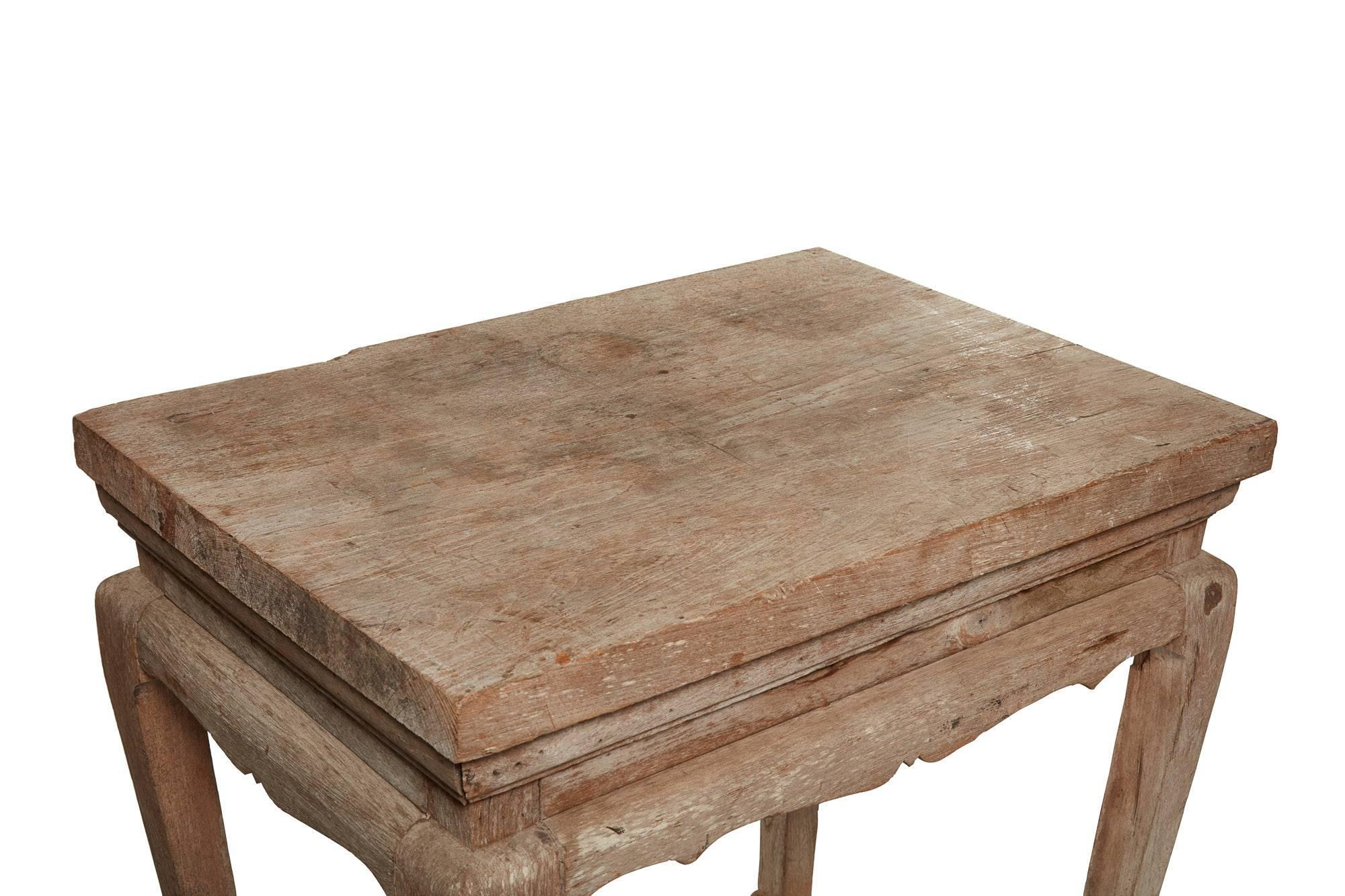 19th Century Bleached Wood Classic Style Thai Table For Sale   Image 9 Of 11