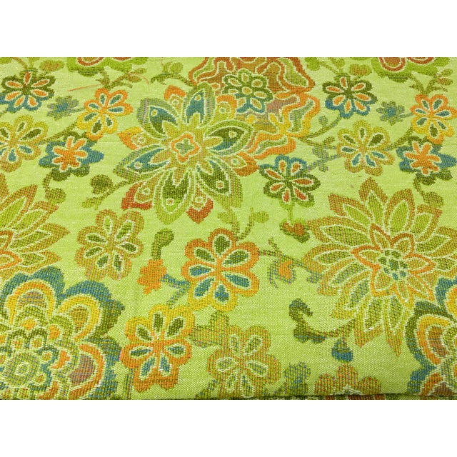 Mid-Century Modern Multicolor Floral Upholstery Fabric For Sale