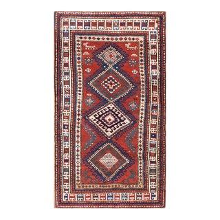 """Antique Caucasian - Kazak Rug 3'7""""x 6'3"""" For Sale"""