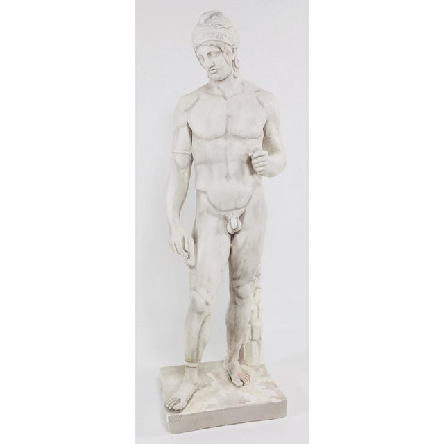White Monumental Greek Warrior For Sale - Image 8 of 9