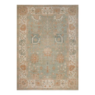 Handwoven Antique Turkish Oushak Inspired Rug - 9′2″ × 12′10″