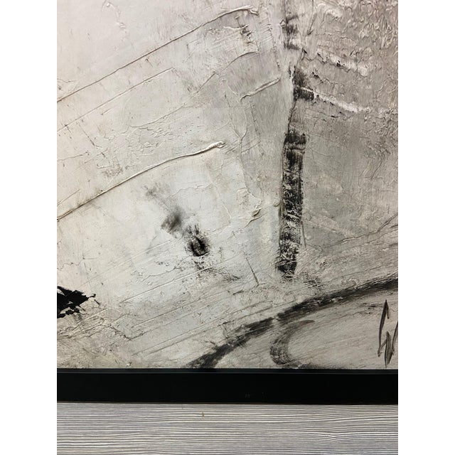Canvas 1960s Abstract Black and White Painting by Graham Harmon For Sale - Image 7 of 13