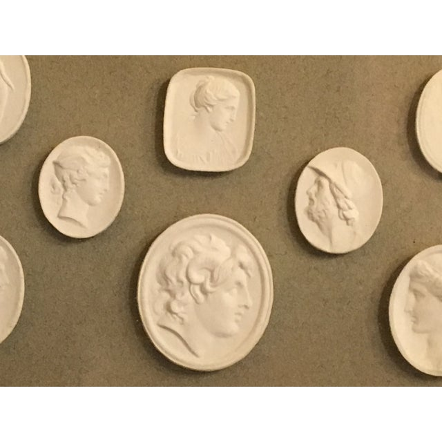 19th Century Antique European Grand Tour Framed Plaster Intaglios For Sale - Image 4 of 13