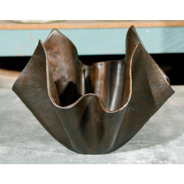 Contemporary Small Bronze Handkerchief Planter For Sale - Image 3 of 8