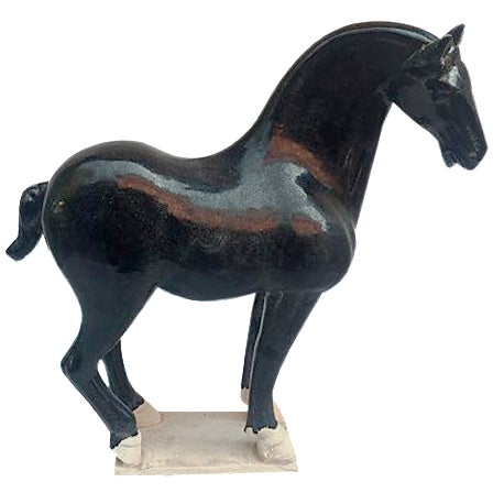 Chinese Tang-Style Black Horse - Image 1 of 6