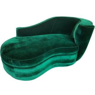 Vladimir Kagan Style Chaise For Sale