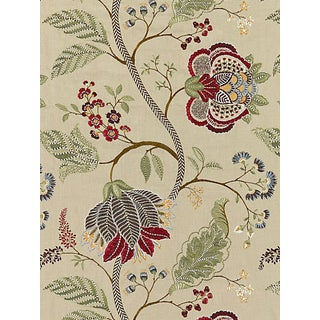 Sample, Scalamandre Palampore Embroidery, Cinnamon For Sale