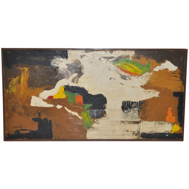 Carlo of Hollywood Vintage Abstract Painting 1960s - Image 1 of 7