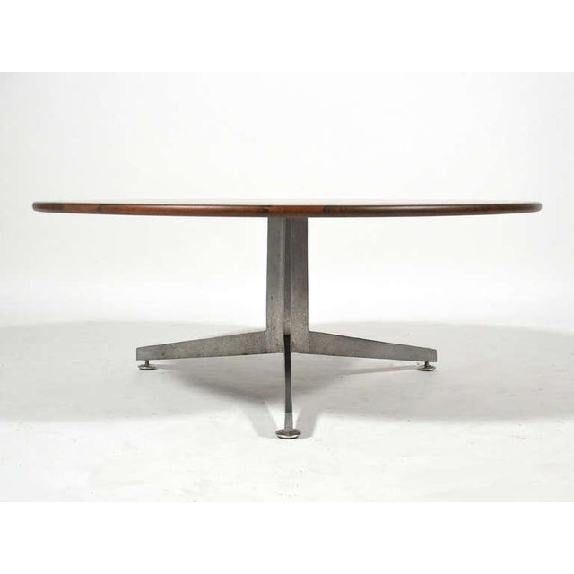 1970s Ward Bennett Rosewood and Aluminum Coffee Table by Lehigh For Sale - Image 5 of 11