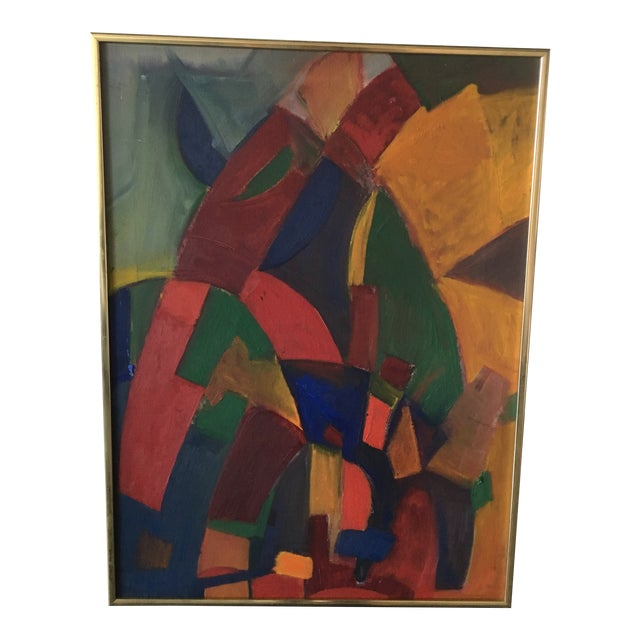 Abstract Mid-Century Modern Painting For Sale