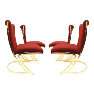 1970s Gold Dining Chairs - Set of 4