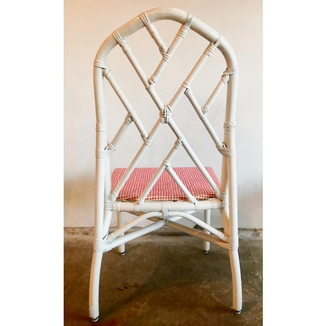 1960s 1960s Chippendale Rattan Chairs- Set of 6 For Sale - Image 5 of 10