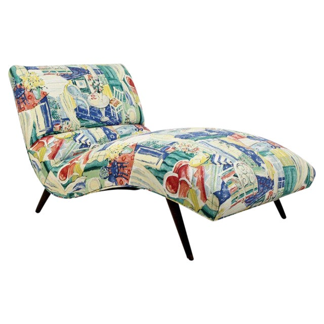 Mid-Century Modern Contour Wave Chaise Lounge Chair by Adrian Pearsall, 1950s For Sale