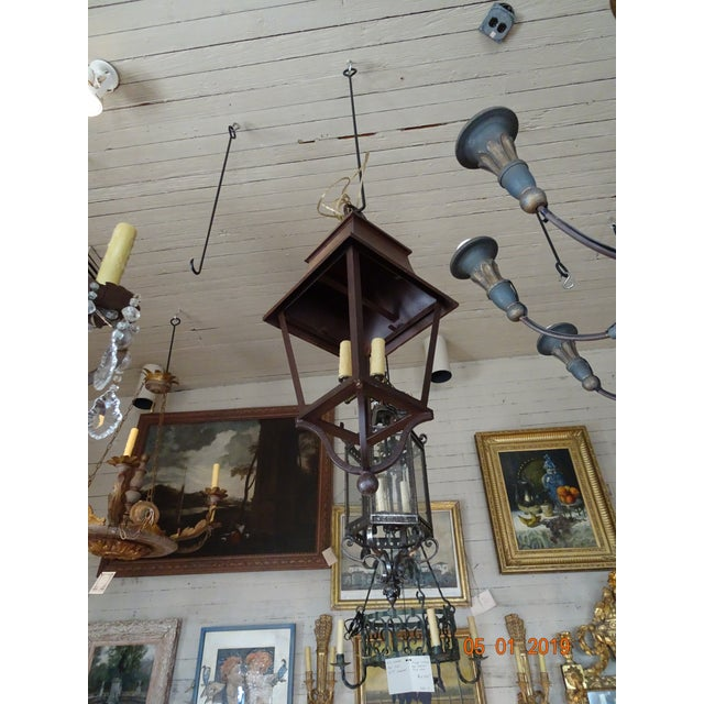 Metal French Iron Lantern For Sale - Image 7 of 10