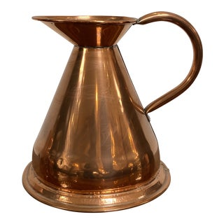 Antique Copper Water Pitcher For Sale