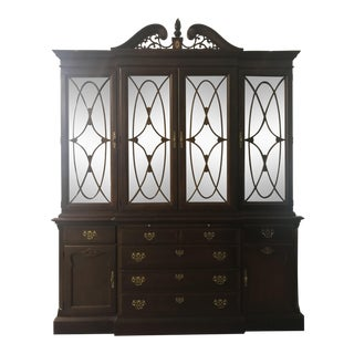 Stanley Furniture Company Stoneleigh Mahogany 60th Anniversary Commemorative Collection China Cabinet