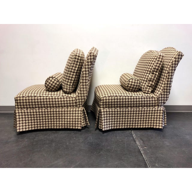 Theodore Alexander Althorp Living History Herringbone Slipper Chairs For Sale In Charlotte - Image 6 of 13