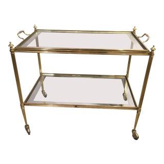 Italian Brass Bar Cart