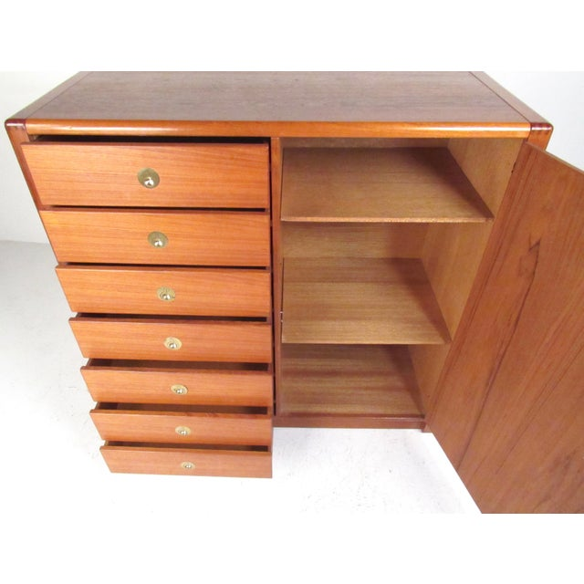 Mid-Century Modern Teak Gentleman's Chest For Sale - Image 4 of 11