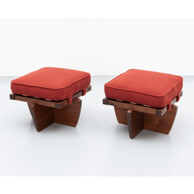 Pair of Greenrock Stools by George Nakashima, New Hope, Pa For Sale - Image 11 of 11