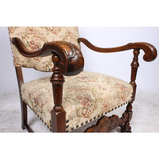 William and Mary Style Armchair For Sale - Image 5 of 5