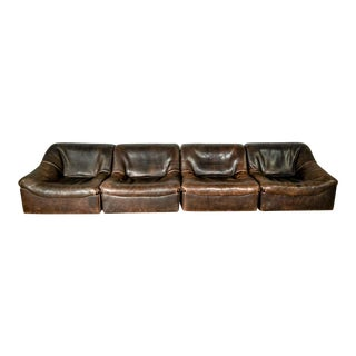 Mid-Century Modern Design Buffalo Neck Leather Modular Sofa-set DS-46 for De Sede, Switzerland, 1970s For Sale